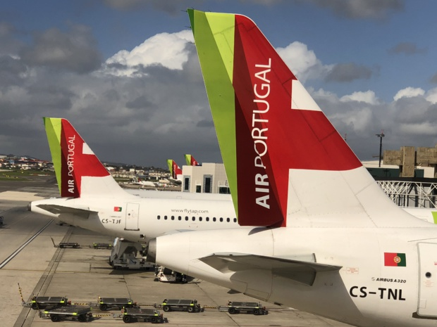 TAP Air Portugal , membre de Star Alliance, 83 destinations dans 34 pays à travers le monde /photo JDL dr