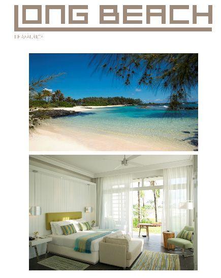 A la frontière du paradis, le dernier né de Sun Resorts à l'île Maurice, le Long Beach. Ouverture prévue le 2 décembre 2010