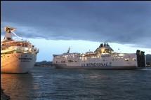 Depuis samedi, le port d'Ajaccio avait recommencé à fonctionner après une intervention des forces de l'ordre.