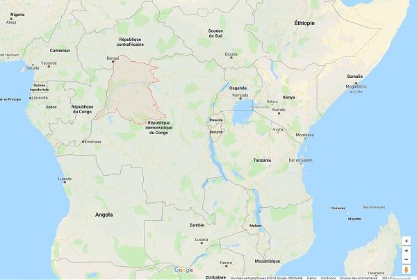 La province d'Equateur en RDC a connu plusieurs cas de virus Ebola - Crédit photo : Google Maps