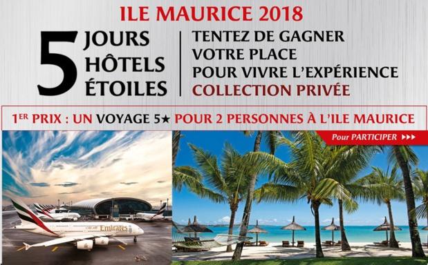 Challenge Collection Privée Exotismes avec Emirates : 14 agents de voyages s'envoleront jeudi 17 mai 2018 pour 5 jours à l'Ile Maurice - DR