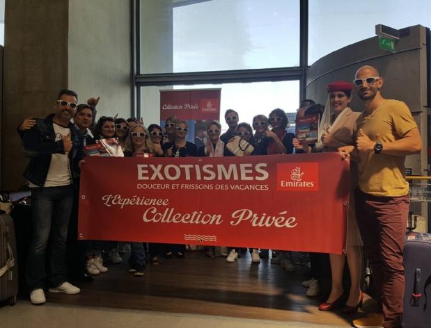 Les 14 participants au départ de Paris CDG. Première surprise : ils voyageront en Business Class avec Emirates - Photo DS