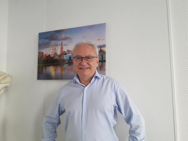 Alain Souleille, président de Rivages du Monde, dans ses bureaux rue du 4 Septembre à Paris - Photo M.S.