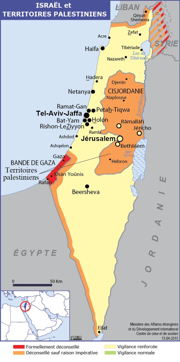 La carte publié par le site du Ministère des Affaires Etrangères - DR