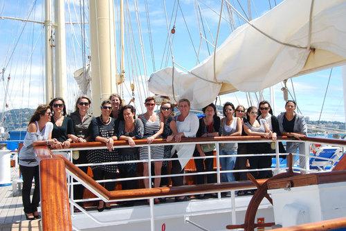 CIC : des agents de voyages en visite sur le Star Flyer à Cannes