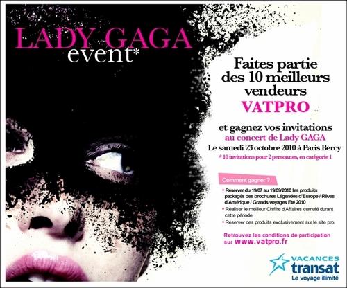 """Lady Gaga récompensera le challenge """"meilleurs vendeurs été 2010"""""""