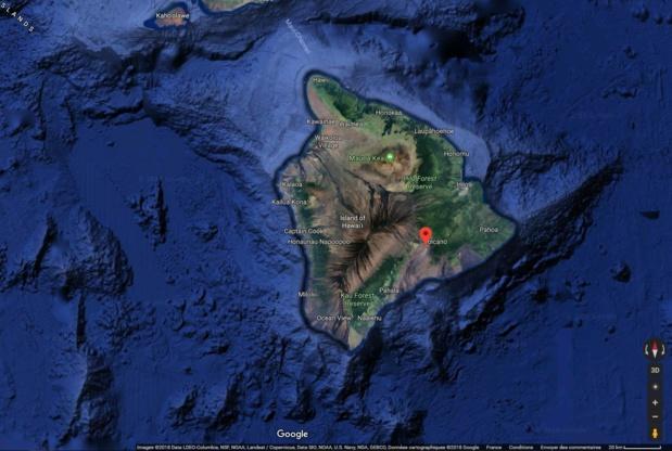 Le Parc National des Volcans est interdit d'accès - Crédit photo : Google Maps