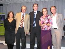 de gauche à droite : Valérie Boned, George Colson, Rachid Temal, Nadine Pawlak et Stéphane Tarrazi
