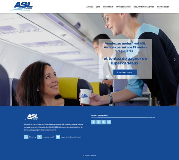 Le challenge de ventes lancé par ASL Airlines France. - DR