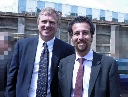 Pierfrancesco Vago, PDG de MSC Croisières (à gauche) et Erminio Eschena, directeur général France, Belgique et Luxembourg