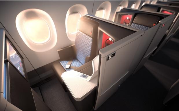 Une porte coulissante sur chaque siège pour préserver l'intimité des passagers /crédit photo Delta