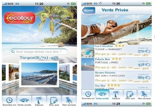 L'ensemble des documents de voyages (vouchers) avec convocation d'aéroport et horaires pourront également être consultés directement depuis l'Iphone !
