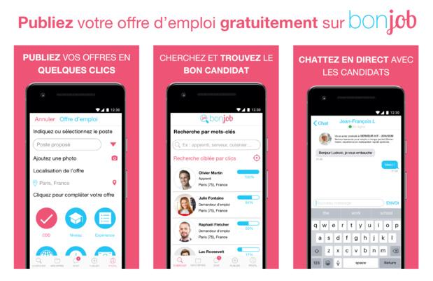 Emploi : BonJob, une solution mobile de recrutement dans l'hôtellerie-restauration