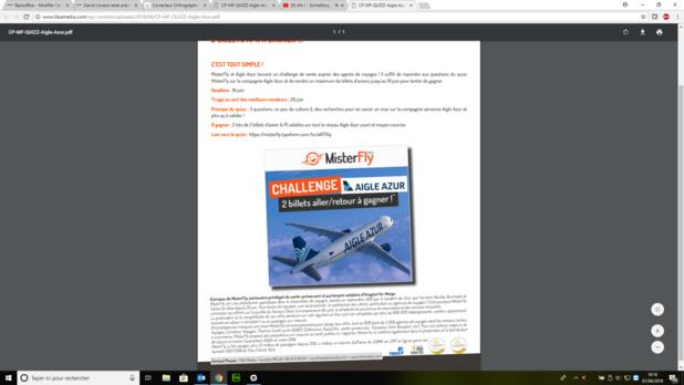 Challenge des ventes MisterFly et Aigle Azur - Crédit photo : MisterFly