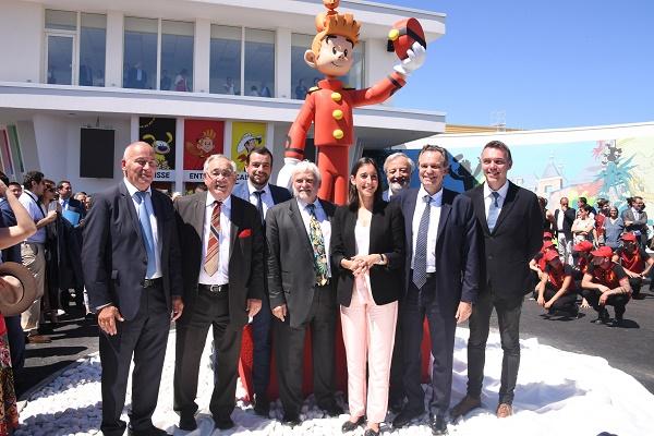 Les élus locaux lors de l'inauguration du parc Spirou le 1er juin 2018 - Crédit photo : Parc Spirou