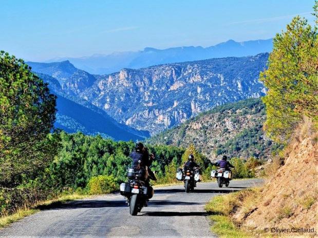 Les Motards du Tourisme proposent une belle couverture de la destination en B2B et B2C. Ici, en Catalogne - DR : O. Caillaud TourMaG.com