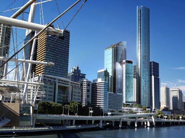 Le W Brisbane propose 312 chambres, dont 32 suites de luxe, offrant toutes une vue sur le fleuve - DR : W Hotels