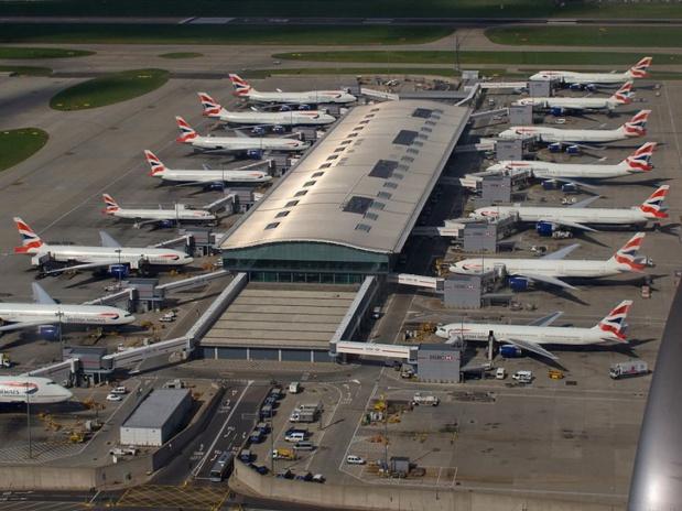 Aéroport d'Heathrow - photo wikicommons Tony Hisge