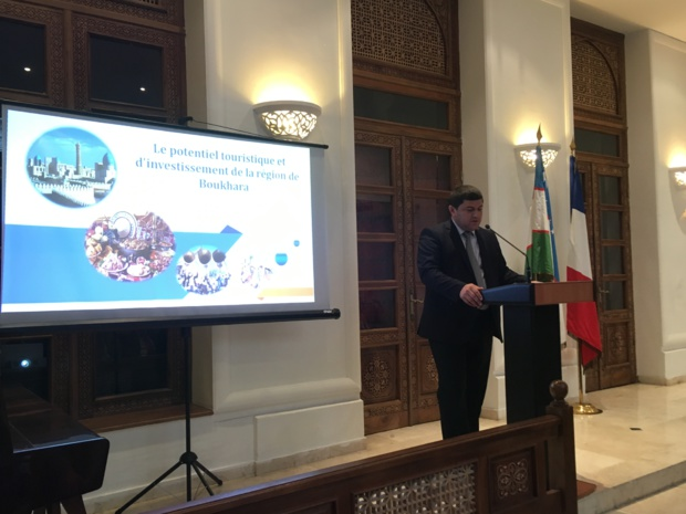 Une délégation de Boukhara est venue présenter le potentiel touristique de la destination à l'ambassade d'Ouzebistan à Paris le 30 mai dernier. - CL