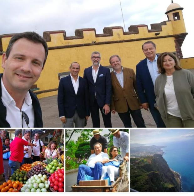 Jean-Pierre Pinheiro, Mumtaz Teker et Valérie Boned en voyage de repérage à Madère pour les prochaines journées des Entrepreneurs du voyage - DR Linkedin