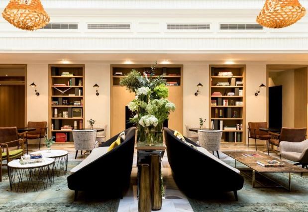 L'hôtel de 97 chambres mixe les éléments de décoration de style XVIIIe siècle avec un design plus contemporain - DR : Groupe Marriott