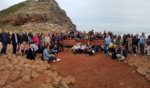 Les participants du Convenc'Tour 2018 au Cap de Bonne Espérance - Photo CE