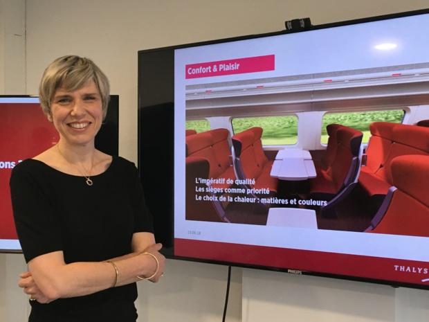 Agnès Ogier, directrice générale de Thalys, a présenté le projet de rénovation de son parc. - CL