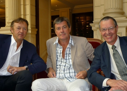 Un petit déjeuner de travail avec, de gauche à droite, Didier Blanchard, Didier Rabaux directeurs associés et Philippe Marquenet directeur commercial.