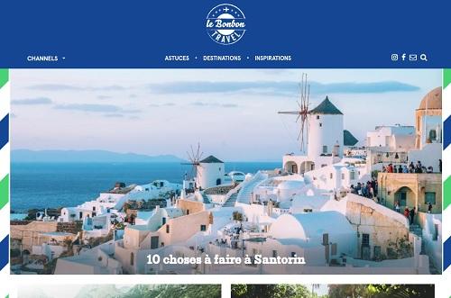 """La plateforme """"Travel"""" du site Lebonbon.fr - DR"""