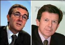 Gilles Pelisson (à dr) succèdera en janvier prochain au plus tard à Jean Marc espalioux (à g).
