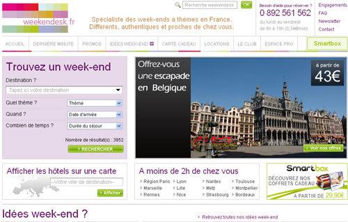 Weekendesk.fr : les courts séjours en hausse cet été