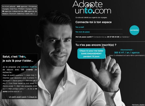 En 2018, adopteunto.com s'est également développé en Europe en partenariat avec it4travel qui sera le distributeur exclusif en Belgique et au Luxembourg, notamment pour le réseau RTK Avitour Tourcom.- DR