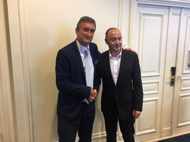Valery Muggeo et Laurent Abitbol, respectivement président de la coopérative Selectour et du Directoire - crédit photo : TourMaG - PG