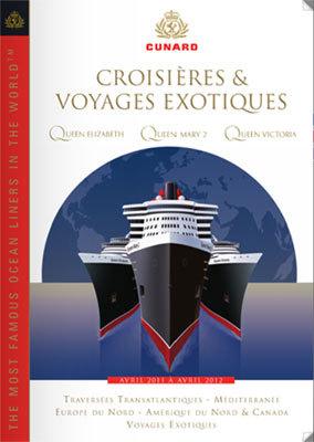 CIC : nouvelle brochure Cunard 2011-2012
