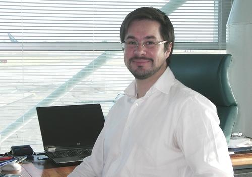 Thierry Ligonnière, président de la SE des Aéroports de Rennes et Dinard