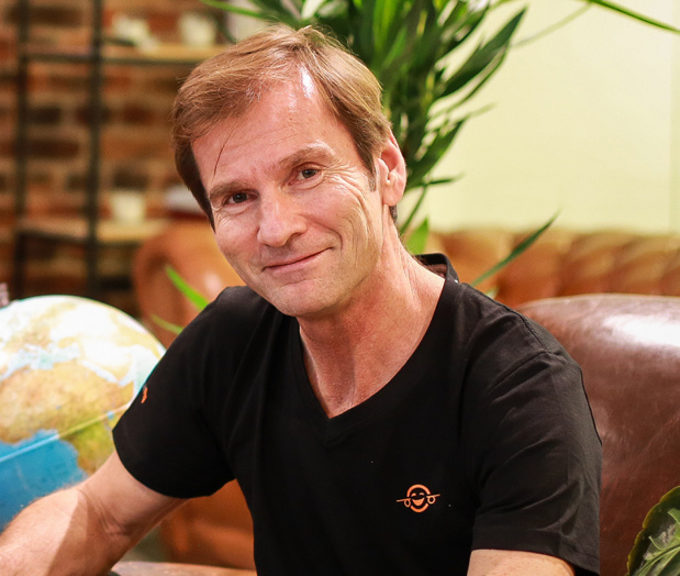 """Nicolas Brumelot : """"Notre objectif est de réaliser une solution que les agences de voyages puissent utiliser pour leurs propres clients PME et TPE."""" - Photo DR"""