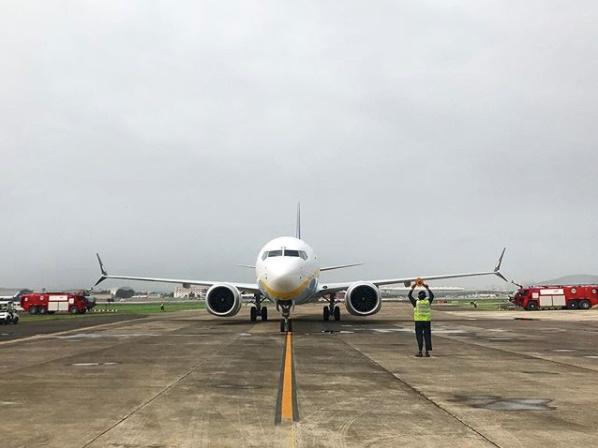 Premier appareil d'une commande de 225 B737 MAX 8 qui seront introduits  dans la flotte de Jet Airways au cours de la prochaine décennie - DR.
