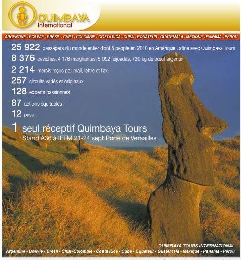 Quimbaya Tours vous donne rendez-vous à l'IFTM du 21 au 24 Septembre 2010 au stand A 36