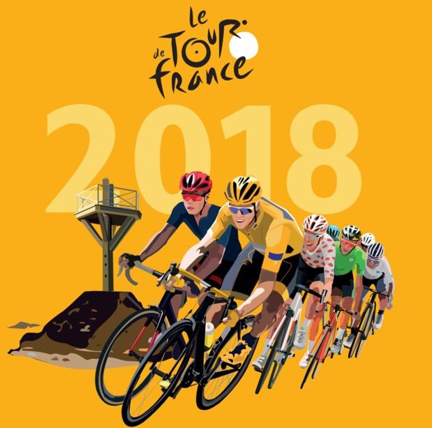 La Vendée, qui s'apprête à accueillir son 6e Grand Départ, s'attend à des retombées touristiques, médiatiques et économiques importantes - DR : Affiche officielle Tour de France 2018