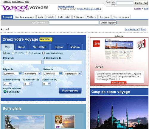 Les offres Expedia sur Yahoo! Voyages