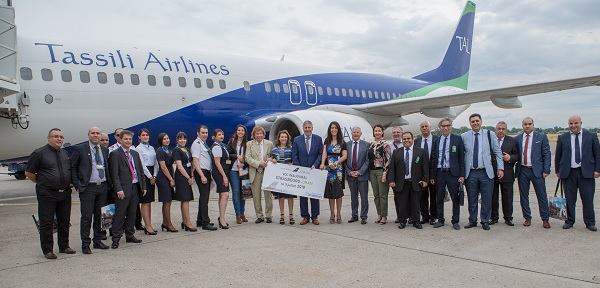 Tassili Airlines inaugure son premier vol Oran-Strasbourg - Crédit photo : Tassili Airlines