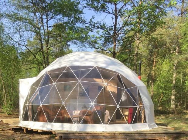 Les gites insolites de Sologne installent des logements sous bulle au milieu de la forêt - crédit photo : Les Gites insolites de Sologne
