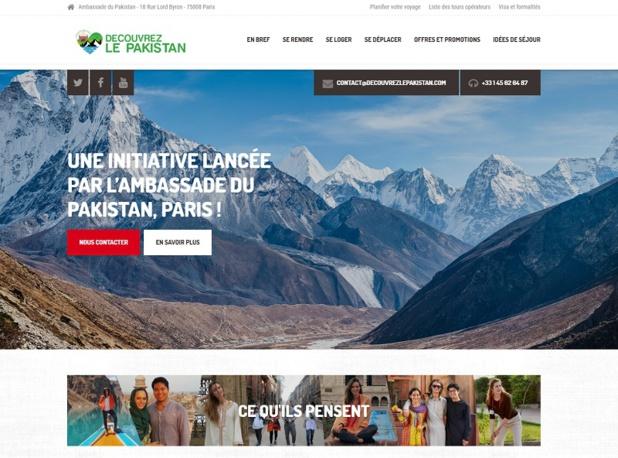 L'Ambassade du Pakistan à Paris a décidé de jouer le grand jeu, y'a même des idées de séjours. En revanche, je ne savais pas qu'une ambassade pouvait organiser des circuits et séjours - DR : Capture d'écran DécouvrezlePakistan.com