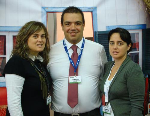 Antonio Duarte, patron de GPS Tour, entouré de Dora Antonio responsable Algarve et de Anabela Antonio Responsable technique.