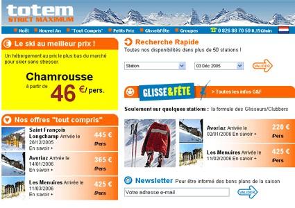 Ski : TotemVoyages.com lance la formule ''hébergement seul''