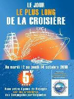 ''Le jour le plus long de la croisière'' : du 12 au 14 octobre prochains