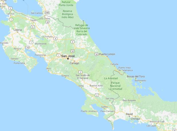 Intempéries au Costa Rica : Certains axes routiers, dont les routes nationales 32 et 10 entre la vallée centrale et la province de Limón, sont partiellement ou totalement fermés à la circulation - DR