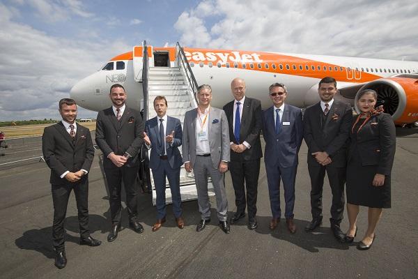 easyJet accueille son premier Airbus A321neo - Crédit photo : easyJet