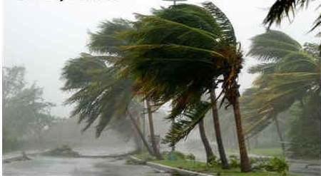 Deux jours de pluies intenses et de vents soufflant à 250 km/h