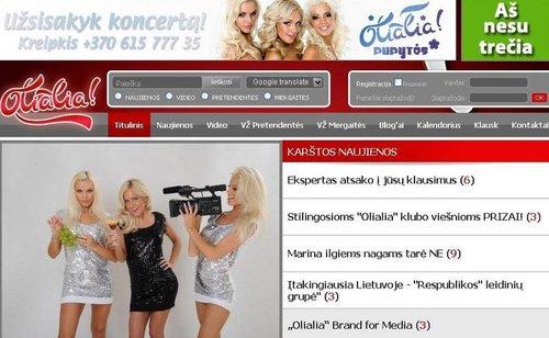 Le site internet d'Olialia, déjà doté d'un réservoir de blondes pour remplir son futur hôtel aux Maldives